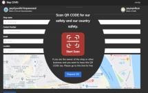 """កម្ពុជាប្រើប្រព័ន្ធ QR Code """"Stop Covid"""" ដើម្បីគ្រប់គ្រងកន្លែងដែលមានមនុស្សច្រើន"""