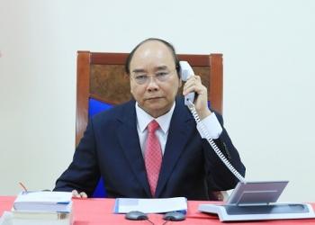 នាយករដ្ឋមន្រ្តីវៀតណាមលោក Nguyen Xuan Phuc អញ្ជើញជួបសន្ទនាតាមទូរស័ព្ទជាមួយនាយករដ្ឋមន្ត្រីសិង្ហបុរីលោក Lee Hsien Loong