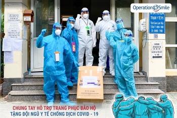 អង្គការ Operation Smile Vietnam រៀបចំការបរិច្ចាគដើម្បីទិញឧបករណ៍ការពារចំនួន ៣,០០០ ហើយបញ្ជូនទៅកាន់ទីក្រុងហូជីមិញ